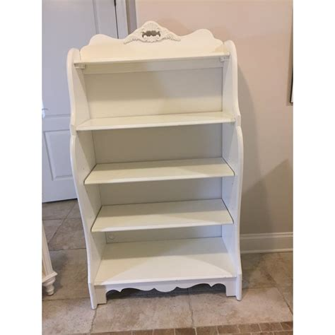 shabby chic antique white bookshelf
